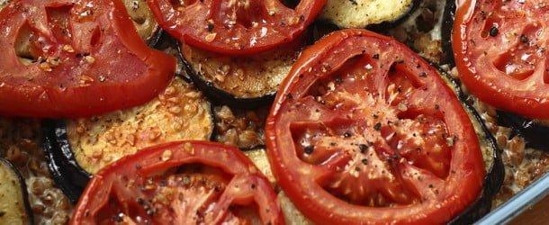 Delicious orchards heirloom tomato and eggplant terrine for Tomato terrine