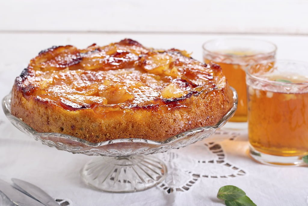 Delicious Orchards » Gingerbread Apple Upside Down Cake