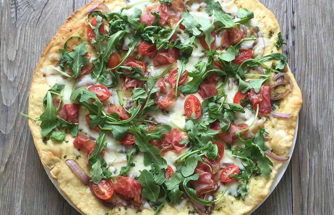 Delicious Orchards » Arugula & Tomato Pizza