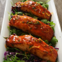Sweet & Spicy Baked Salmon