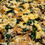 Farfalle Pasta with Spinach & Caramelized Onions