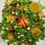 Pomegranate & Pear Salad with Ginger Dressing
