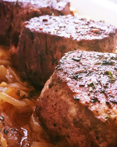 Filet Mignon and Caramelized Onions